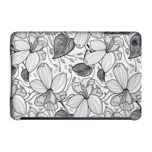 Geeks Designer Line (GDL) Slim Hard Case for Apple iPad Mini - Black on White Orchid Lines