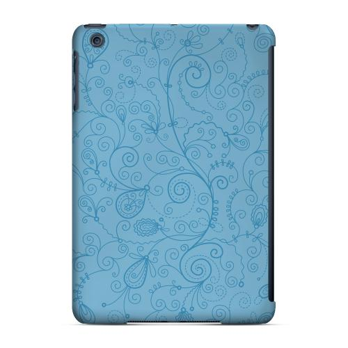 Geeks Designer Line (GDL) Slim Hard Case for Apple iPad Mini - Floral 1 Dusk Blue