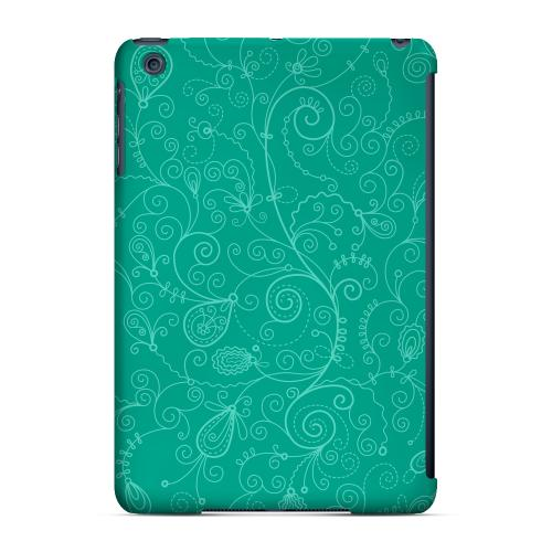 Geeks Designer Line (GDL) Slim Hard Case for Apple iPad Mini - Floral 1 Emerald