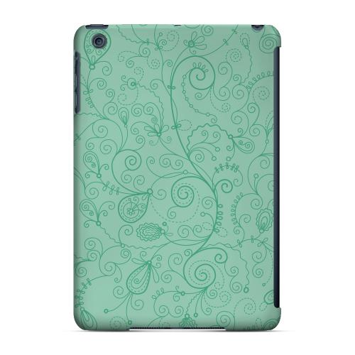 Geeks Designer Line (GDL) Slim Hard Case for Apple iPad Mini - Floral 1 Grayed Jade