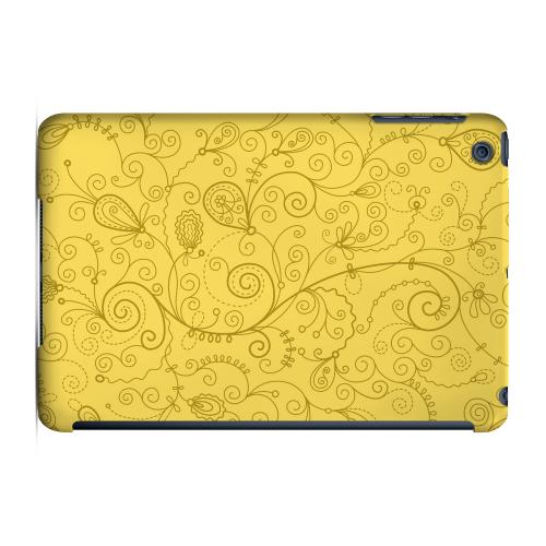 Geeks Designer Line (GDL) Slim Hard Case for Apple iPad Mini - Floral 1 Lemon Zest
