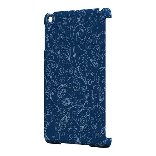 Geeks Designer Line (GDL) Slim Hard Case for Apple iPad Mini - Floral 1 Monaco Blue