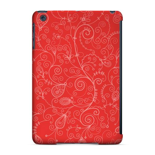 Geeks Designer Line (GDL) Slim Hard Case for Apple iPad Mini - Floral 1 Poppy Red