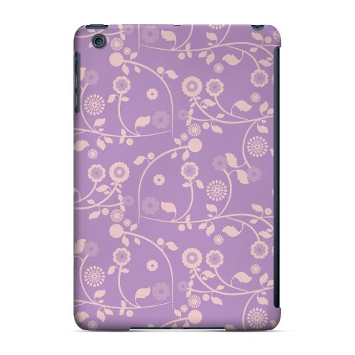 Geeks Designer Line (GDL) Slim Hard Case for Apple iPad Mini - Floral 2 African Violet