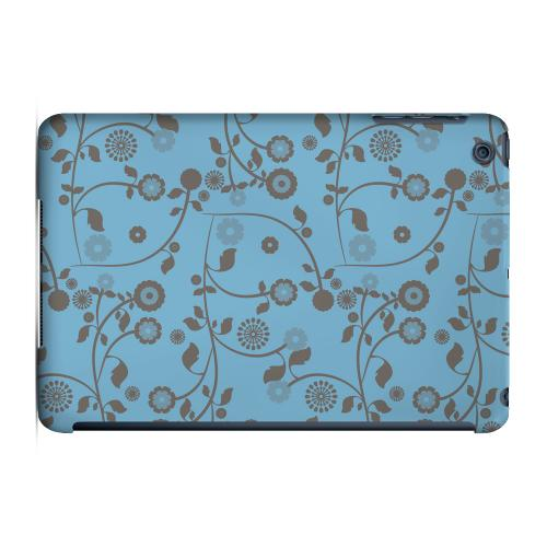 Geeks Designer Line (GDL) Slim Hard Case for Apple iPad Mini - Floral 2 Dusk Blue