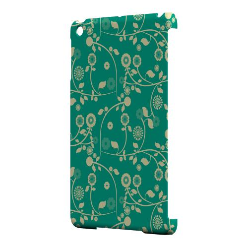 Geeks Designer Line (GDL) Slim Hard Case for Apple iPad Mini - Floral 2 Emerald