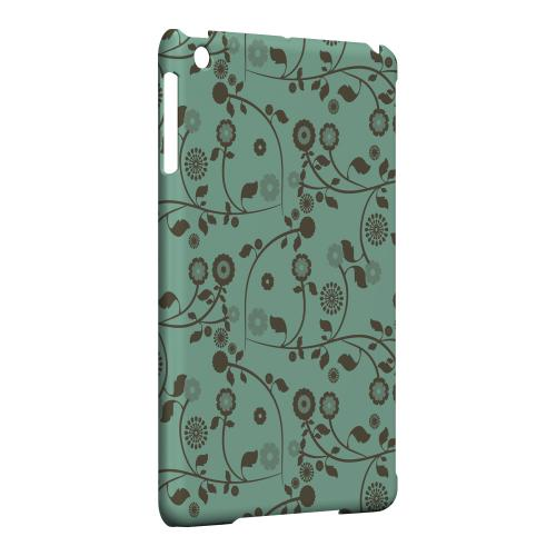 Geeks Designer Line (GDL) Slim Hard Case for Apple iPad Mini - Floral 2 Grayed Jade