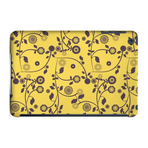 Geeks Designer Line (GDL) Slim Hard Case for Apple iPad Mini - Floral 2 Lemon Zest