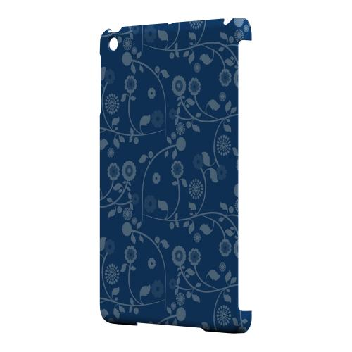 Geeks Designer Line (GDL) Slim Hard Case for Apple iPad Mini - Floral 2 Monaco Blue