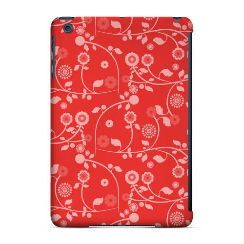 Geeks Designer Line (GDL) Slim Hard Case for Apple iPad Mini - Floral 2 Poppy Red
