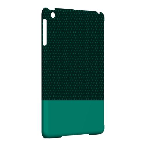 Geeks Designer Line (GDL) Slim Hard Case for Apple iPad Mini - Little Circle Dots Emerald