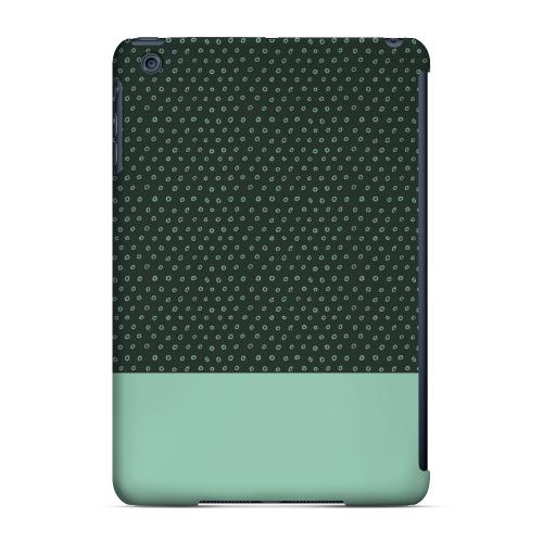 Geeks Designer Line (GDL) Slim Hard Case for Apple iPad Mini - Little Circle Dots Grayed Jade