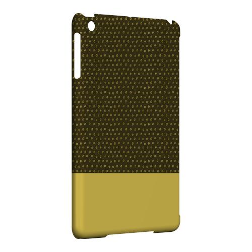 Geeks Designer Line (GDL) Slim Hard Case for Apple iPad Mini - Little Circle Dots Lemon Zest