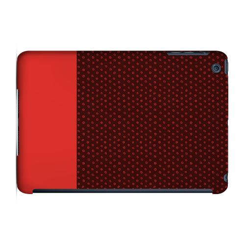 Geeks Designer Line (GDL) Slim Hard Case for Apple iPad Mini - Little Circle Dots Poppy Red