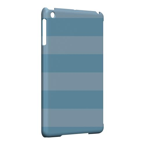 Geeks Designer Line (GDL) Slim Hard Case for Apple iPad Mini - Stripes Dusk Blue