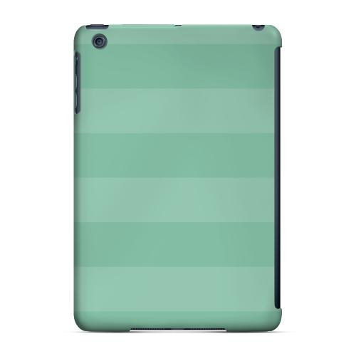 Geeks Designer Line (GDL) Slim Hard Case for Apple iPad Mini - Stripes Grayed Jade