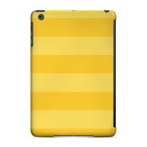 Geeks Designer Line (GDL) Slim Hard Case for Apple iPad Mini - Stripes Lemon Zest
