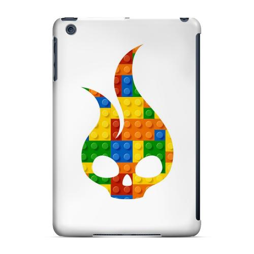Geeks Designer Line (GDL) Slim Hard Case for Apple iPad Mini - Blocks Flameskull