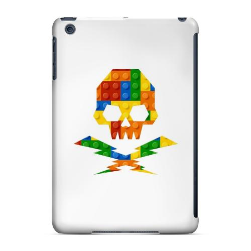 Geeks Designer Line (GDL) Slim Hard Case for Apple iPad Mini - Blocks Skull Lightning Crossbones