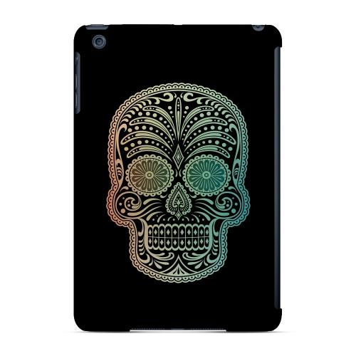 Geeks Designer Line (GDL) Slim Hard Case for Apple iPad Mini - Dia De Los Muertos Blue Red Fade
