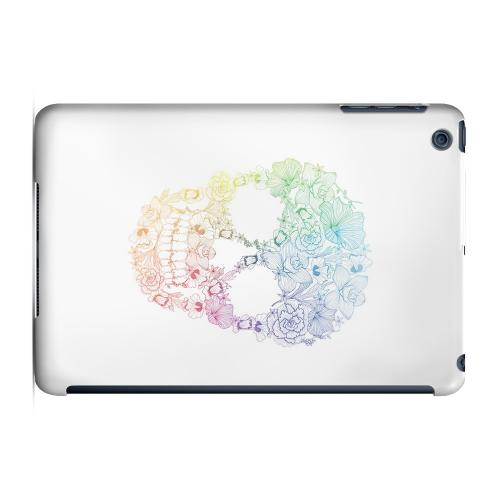 Geeks Designer Line (GDL) Slim Hard Case for Apple iPad Mini - Floral Rainbow Skull on White