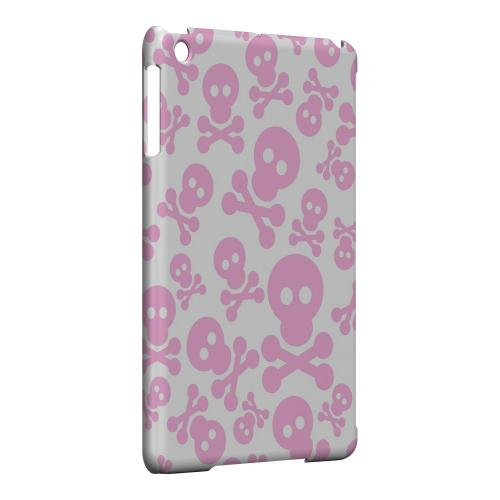 Geeks Designer Line (GDL) Slim Hard Case for Apple iPad Mini - Skull Face Invasion Pink on White