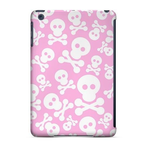Geeks Designer Line (GDL) Slim Hard Case for Apple iPad Mini - Skull Face Invasion White on Pink