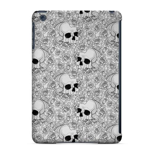 Geeks Designer Line (GDL) Slim Hard Case for Apple iPad Mini - Thorn Skull Black White Halftone