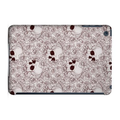 Geeks Designer Line (GDL) Slim Hard Case for Apple iPad Mini - Thorn Skull Red Halftone