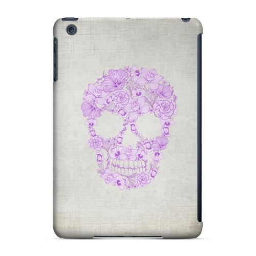 Geeks Designer Line (GDL) Slim Hard Case for Apple iPad Mini - Floral Violet Skull on Canvas