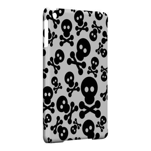Geeks Designer Line (GDL) Slim Hard Case for Apple iPad Mini - Skull Face Invasion Black on White