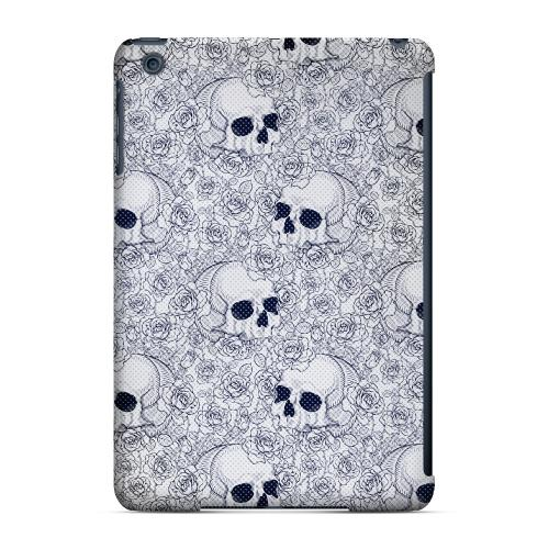 Geeks Designer Line (GDL) Slim Hard Case for Apple iPad Mini - Thorn Skull Blue Halftone