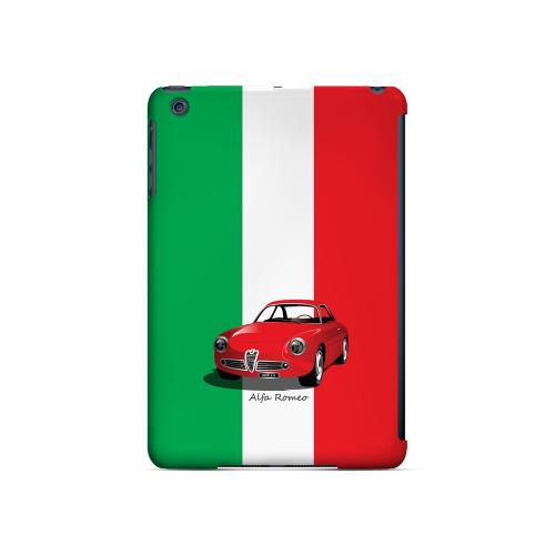 Red Alfa Romeo on Green/ White/ Red - Geeks Designer Line Auto Series Hard Case for Apple iPad Mini