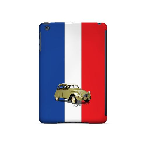 Citroen 2CV on Blue/ White/ Red - Geeks Designer Line Auto Series Hard Case for Apple iPad Mini