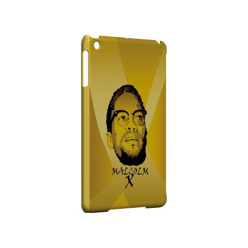Malcolm X in the Middle on Yellow - Geeks Designer Line Revolutionary Series Hard Case for Apple iPad Mini