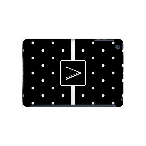 A on Classic Mini Polka Dots - Geeks Designer Line Monogram Series Hard Case for Apple iPad Mini