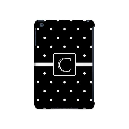 C on Classic Mini Polka Dots - Geeks Designer Line Monogram Series Hard Case for Apple iPad Mini
