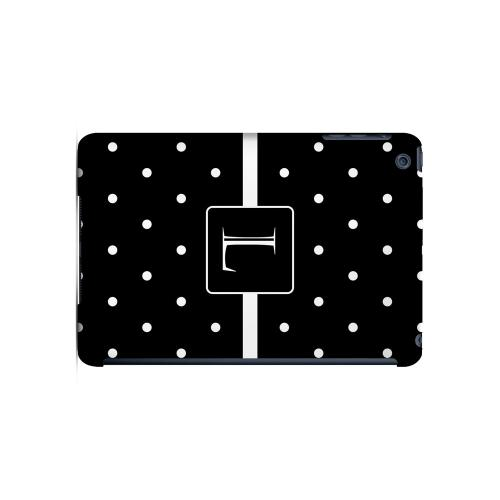 L on Classic Mini Polka Dots - Geeks Designer Line Monogram Series Hard Case for Apple iPad Mini