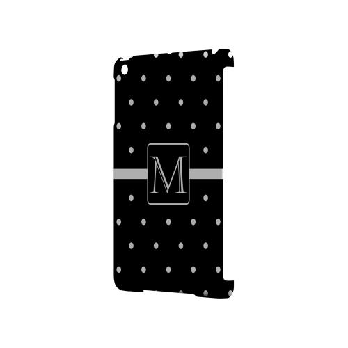 M on Classic Mini Polka Dots - Geeks Designer Line Monogram Series Hard Case for Apple iPad Mini