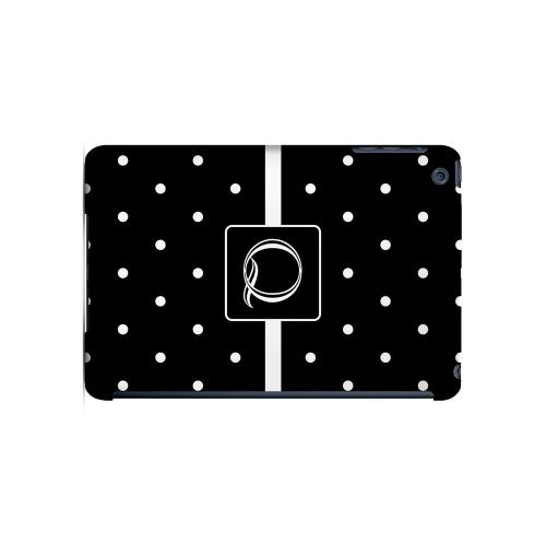 Q on Classic Mini Polka Dots - Geeks Designer Line Monogram Series Hard Case for Apple iPad Mini