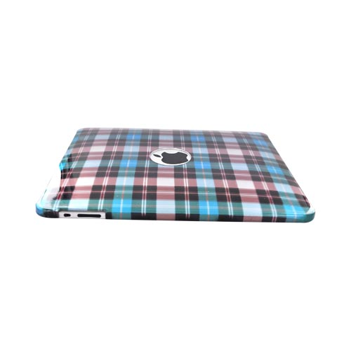 Apple iPad (1st Gen) 1st Hard Cover Case -Blue, Brown, Green Plaid Design
