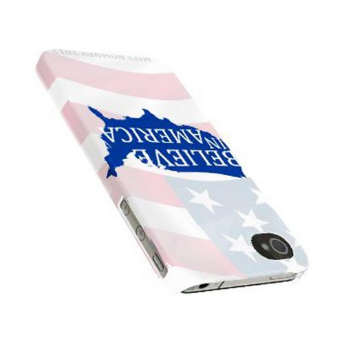 Geeks Designer Line (GDL) 2012 Election Series Apple iPhone 4/4S Matte Hard Back Cover - Believe In America