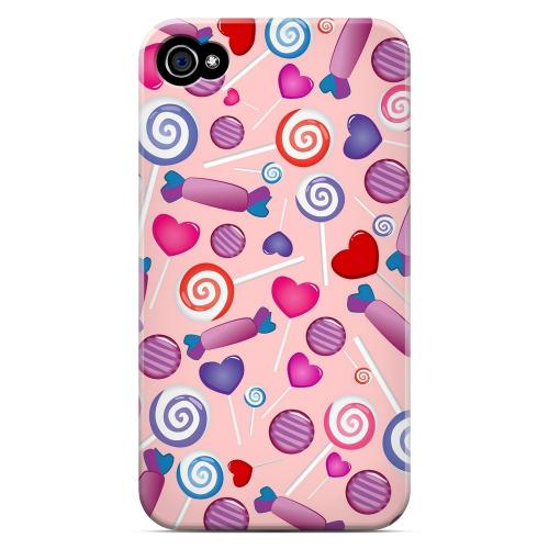 Geeks Designer Line (GDL) Apple iPhone 4/4S Matte Hard Back Cover - Assorted Candy