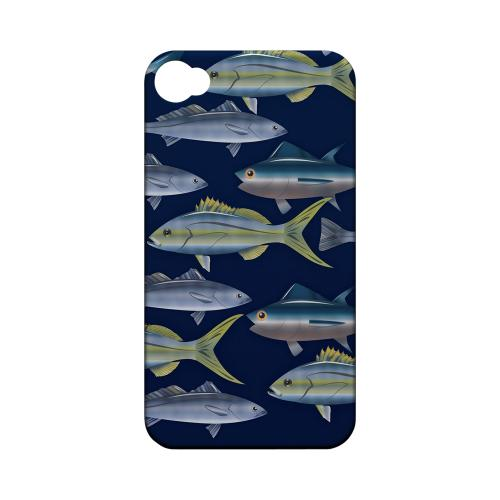 Geeks Designer Line (GDL) Fish Series Apple iPhone 4/4S Matte Hard Back Cover - Assorted Fish in the Sea