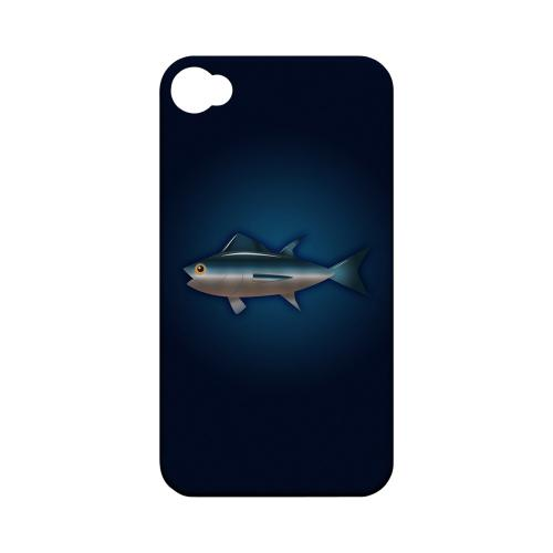 Geeks Designer Line (GDL) Fish Series Apple iPhone 4/4S Matte Hard Back Cover - Bluefin Tuna