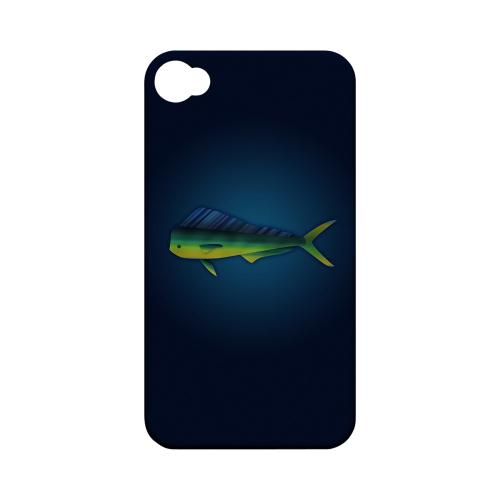 Geeks Designer Line (GDL) Fish Series Apple iPhone 4/4S Matte Hard Back Cover - Mahi Mahi