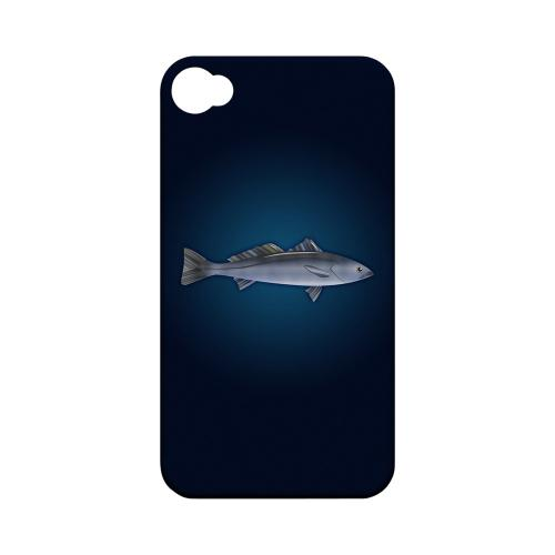 Geeks Designer Line (GDL) Fish Series Apple iPhone 4/4S Matte Hard Back Cover - White Sea Bass