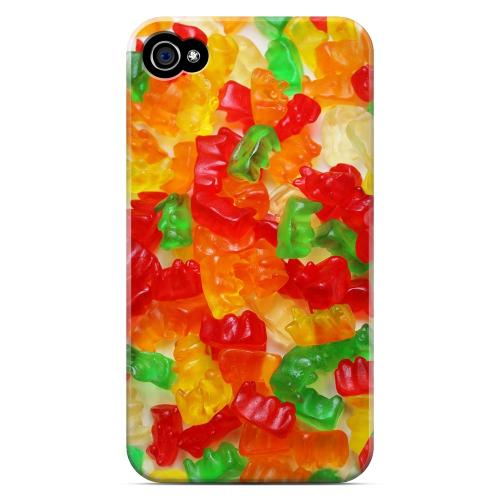 Geeks Designer Line (GDL) Apple iPhone 4/4S Matte Hard Back Cover - Multi-Colored Gummy Bears