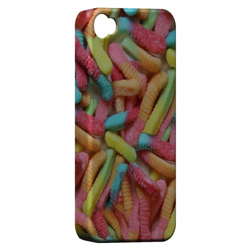 Geeks Designer Line (GDL) Apple iPhone 4/4S Matte Hard Back Cover - Multi-Colored Gummy Worms