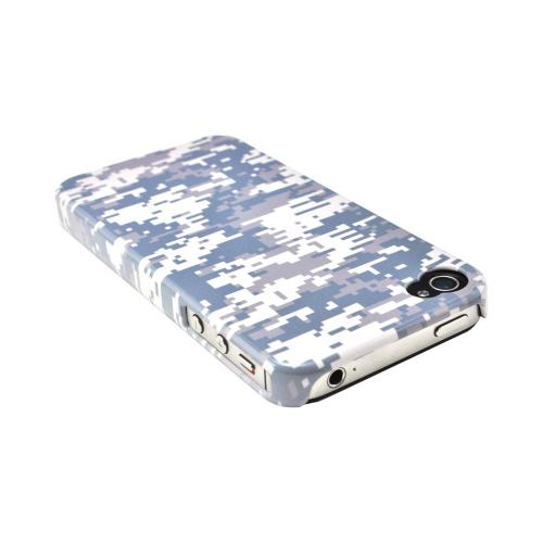 Geeks Designer Line (GDL) Apple iPhone 4/4S Matte Hard Back Cover - Gray Digital Camouflage